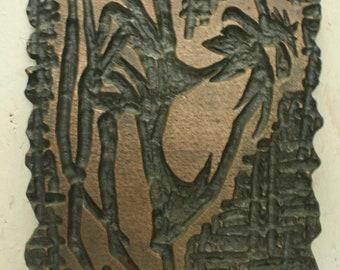 Vintage brutalist wall plaque