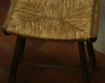 Vintage land house style kitchen/bedroom stool designed by Arno Lambrecht for WK mobel WK-S 7