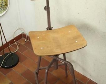 Vintage industrial  adjustable stool
