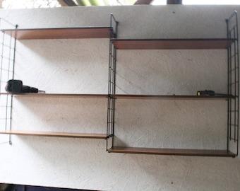 Large vintage string shelving system not unlike Nisse Strinning