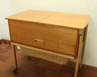MCM vintage teak sewing box