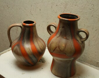 west german pottery vases by Dumler and Breiden