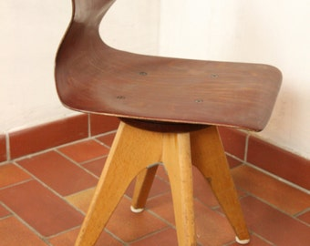 mid century modern childs rotating chair by flötotto