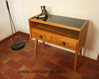 50s two drawer-ed night stand or cupboard