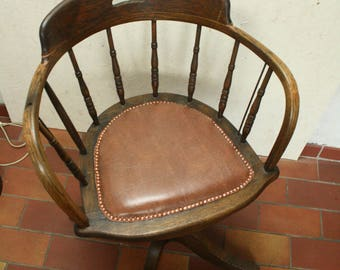 Bent wood [oak] captains or desk chair by Heywood Bros and Wakefield