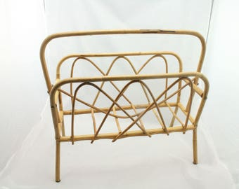 Vintage bamboo paper rack