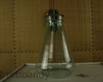 vintage clear glassed lab bottle