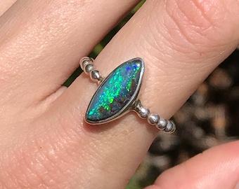 Boulder Opal Ring - US 7 1/2