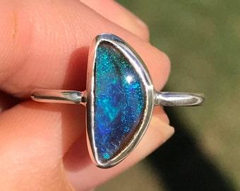 Boulder Opal Ring - US 8