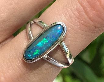 Boulder Opal Ring - US 6 1/2