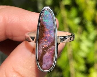 Boulder Opal Ring - US 7 1/4
