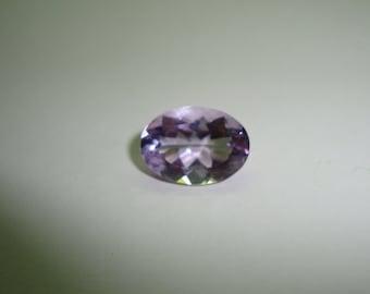 15x9 Pear Lavender Purple Fire Opal Cabochon CZ Silver Jewelry Necklace Pendant