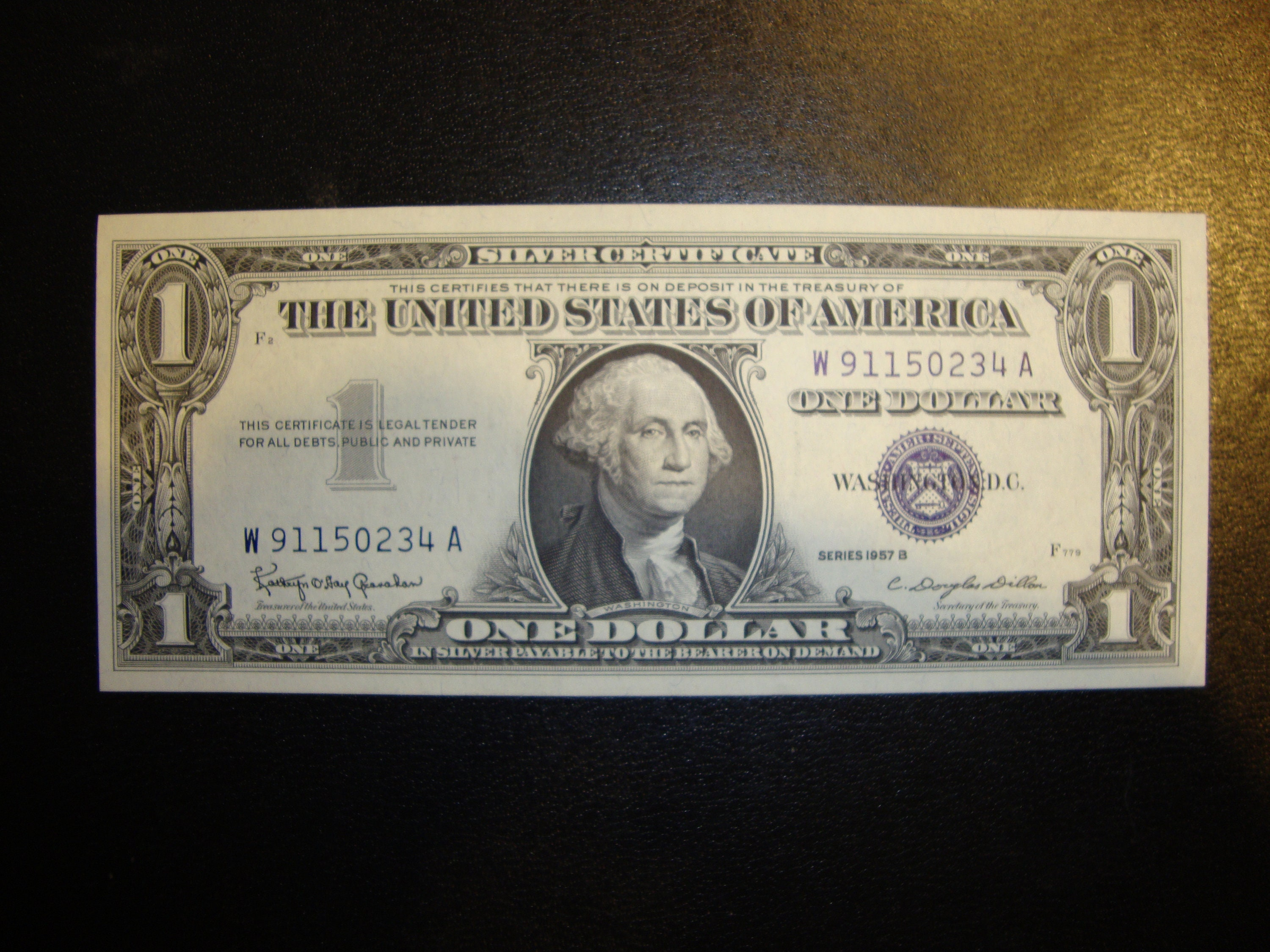 Silver Certificate 1957b Blue Seal Dollar In Perfect Crisp Etsy