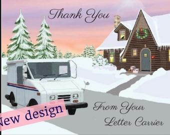 Cottage and LLV Letter Carrier Thank You Post Cards, postal postcards, Mail Carrier ©