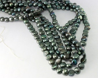 Green freshwater pearl lot of 4 strands