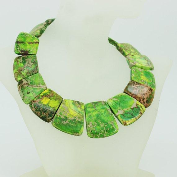 Superbe collier de jasper sédiments mer verte aux couleurs de grands bricolage