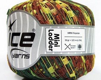 109 Yards,53624 DK Weight Wool Blend Yarn Fiber Art Unique Yarn Thin Tube Brown Wool Blend Ice Yarn Thin Wool Blend Yarn