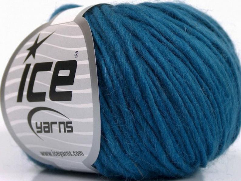 Small Roving Yarn Premium Wool Bulky Teal Blue Melange Yarn 54360 Bulky Yarn Felting Yarn 100/% Wool Knit Crochet Supplies