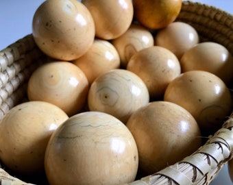 Collection of Antique ivory billiard balls circa 1860's