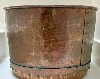 Antique Victorian riveted copper copper