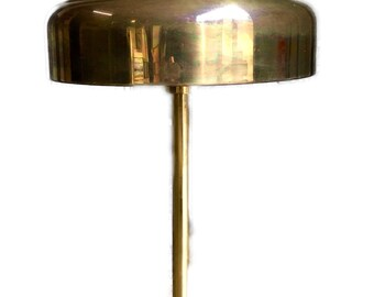 Vintage Swedish Atelje Lyktan Bumling table lamp in gold brass finish by Anders Pehrson