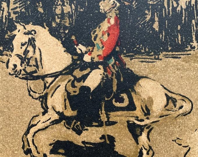 Lord Roberts by Sir William Nicholson lithograph circa 1901