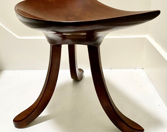 Liberty of London Thebes stool in Oak and Elm