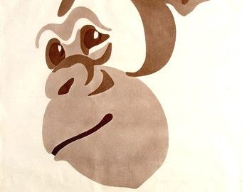 Original vintage advertising poster for the Artis Zoo in Amsterdam circa 1960's pop art style chimpanzee.