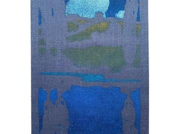 Thomas Todd Blaylock 1896-1929 woodblock screenprint on silk The Cloud