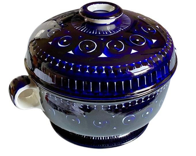 Ulla Procopé designed Valencia Arabia blue cobalt soup tureen