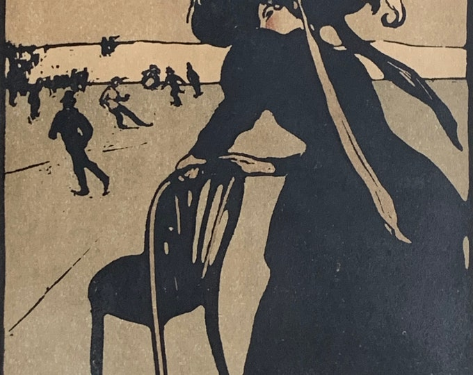 Sir William Nicholson December skating from An almanac of twelve sports 1898