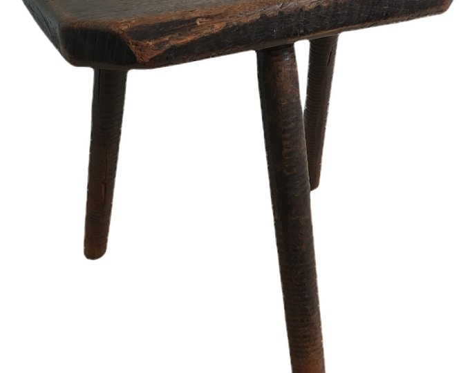 English vernacular Sheffield cutlers stool in Elm and Ash circa early 19th century