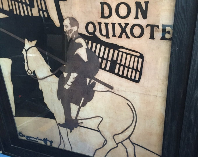 Beggarstaff Brothers Sir William Nicholson & James Pryde print from the Lyceum production of Don Quixote