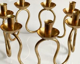 Vintage Swedish Brass Candelabra By Lars Holmström for Svenskt Tenn