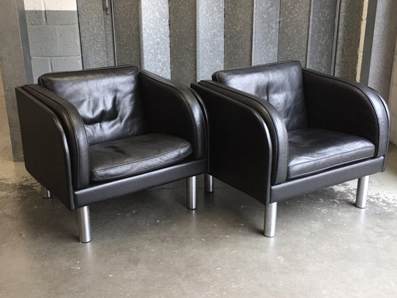 A pair of EJ20-1 Leather Armchairs by Jörgen Gammelgaard for Erik Jørgensen Møbelfabrik circa 1980's