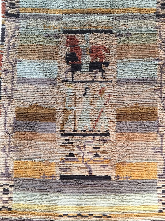 Vintage Finnish wallhanging tapestry by Margareta Ahlstedt-Willandt (1889-1967) called ' The wise men' circa 1930's