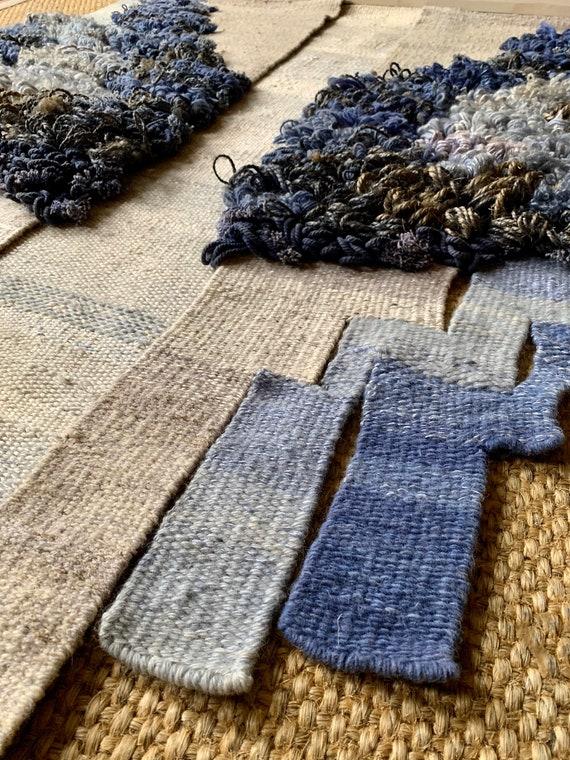 Huge Vintage Elda Abramson tapestry flatweave wallhanging