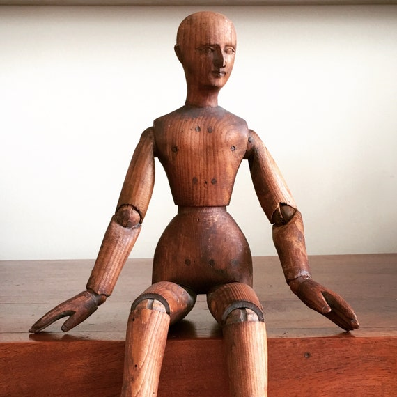 Late 19th century pine lay figure