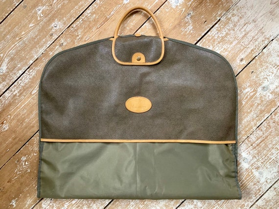Original Mulberry scotchgrain green suit carrier circa 1990's