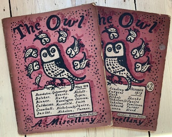 The Owl a miscellany issue 1 and 2 1919