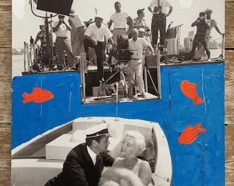 Artwork by Tony Curtis 1925-2010 Hollywood legend still from Some like it hot overworked in acrylic and signed