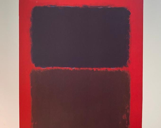 Mark Rothko 1903-1970 hand made screenprint of Light red over black 1957