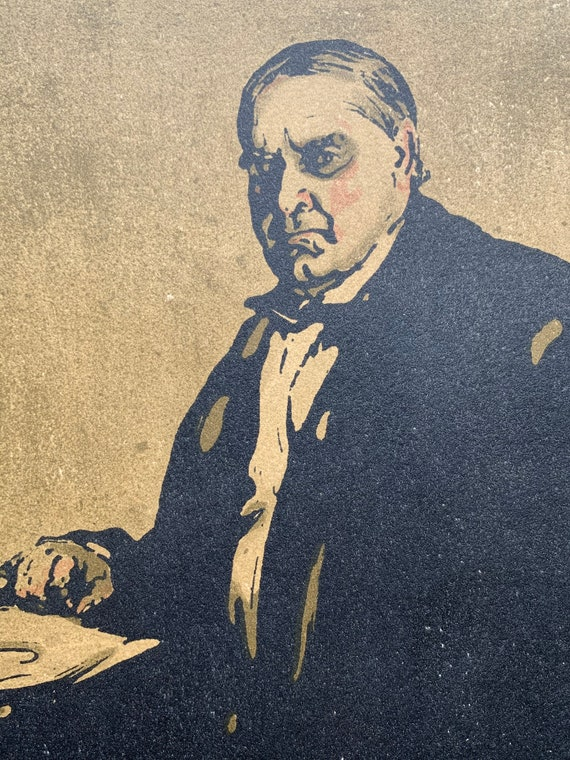 President McKinley by Sir William Nicholson lithographic print circa 1901