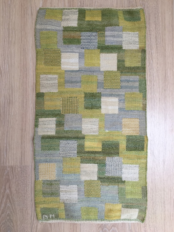 Vintage Swedish tapestry by Barbro Nilsson (1899-1983) called 'Vandringen' designed 1972