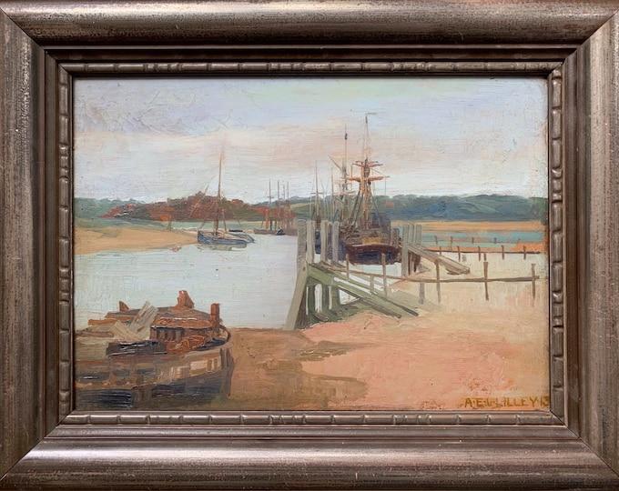 Albert Edward Victor Lilley (1868 1954) modern British oil on board circa 1910