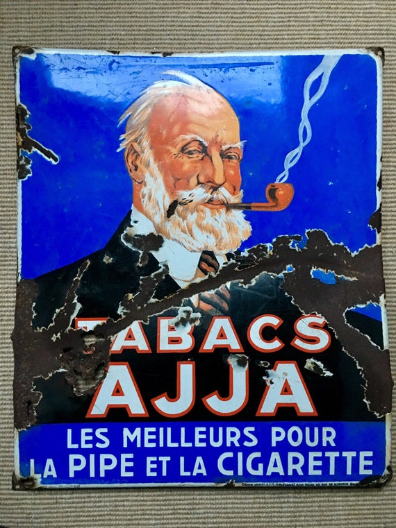 Vintage Belgian tobacco heavy gauge enamelled sign advertising sign circa 1935