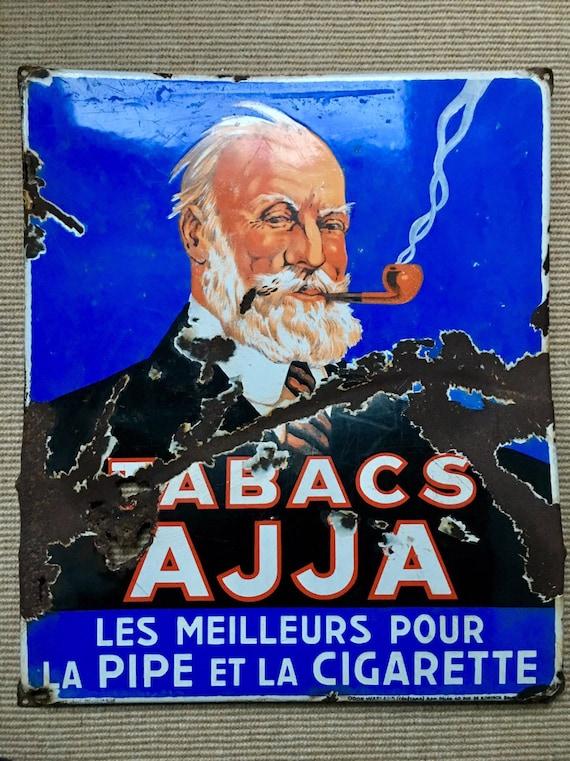Vintage Belgian tobacco heavy gauge enamelled sign advertising sign circa 1935