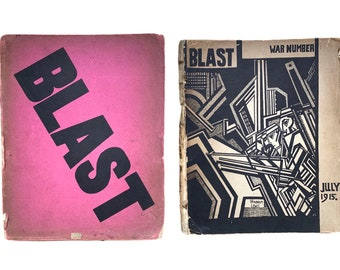 Wyndham Lewis (1882 -1957) BLAST The Review of the Great English Vortex, issue 1 and 2 Rare Vorticist publication.