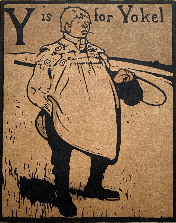 Sir William Nicholson Y is for Yokel lithograph from An Alphabet 1898