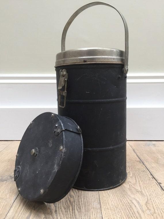 Large vintage industrial camping vacuum flask